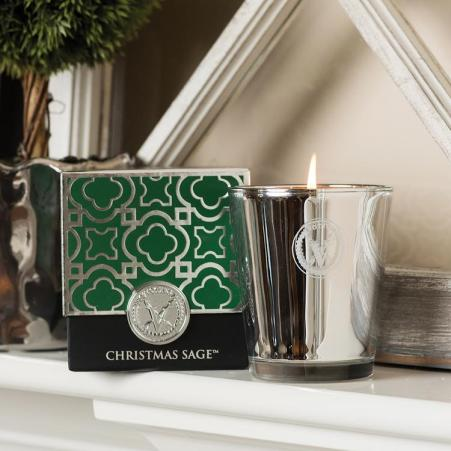 Votivo Green Christmas Sage Candle, $32