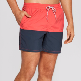 "Target 6"" Double Panel Colorblock Swim Trunks"