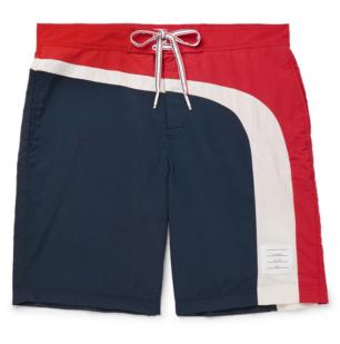 Thom Browne Long-Length Striped Swim Shorts