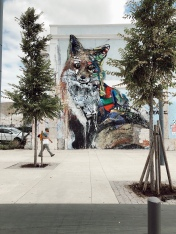 The Plastic Fox by Bordalo II near Beleem cultural centre